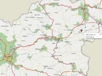 zemljevid gostilna kidric krizeca vas slovenija
